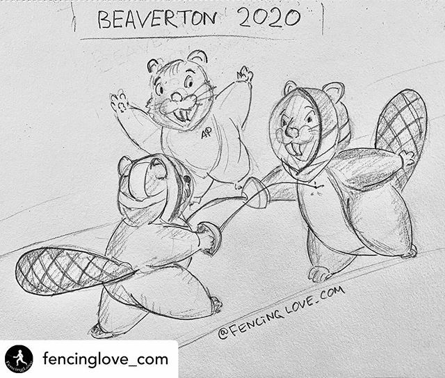 Thanks for the drawing @fencinglove_com You are talented! #beaverton #NWFC  Posted @withregram • @fencinglove_com That keeps popping in my mind when I hear about Beaverton Fencing competition  Cheers to @nwfencing https://ift.tt/2SsHX6Vpic.twitter.com/2HDqcSTI1D