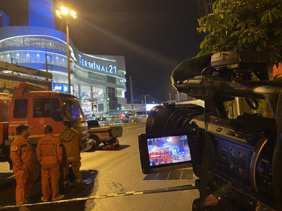 Almost 12 hours & gun man who killed at least 20 people still hidden inside shopping mall #กราดยิงโคราช #savekorat
