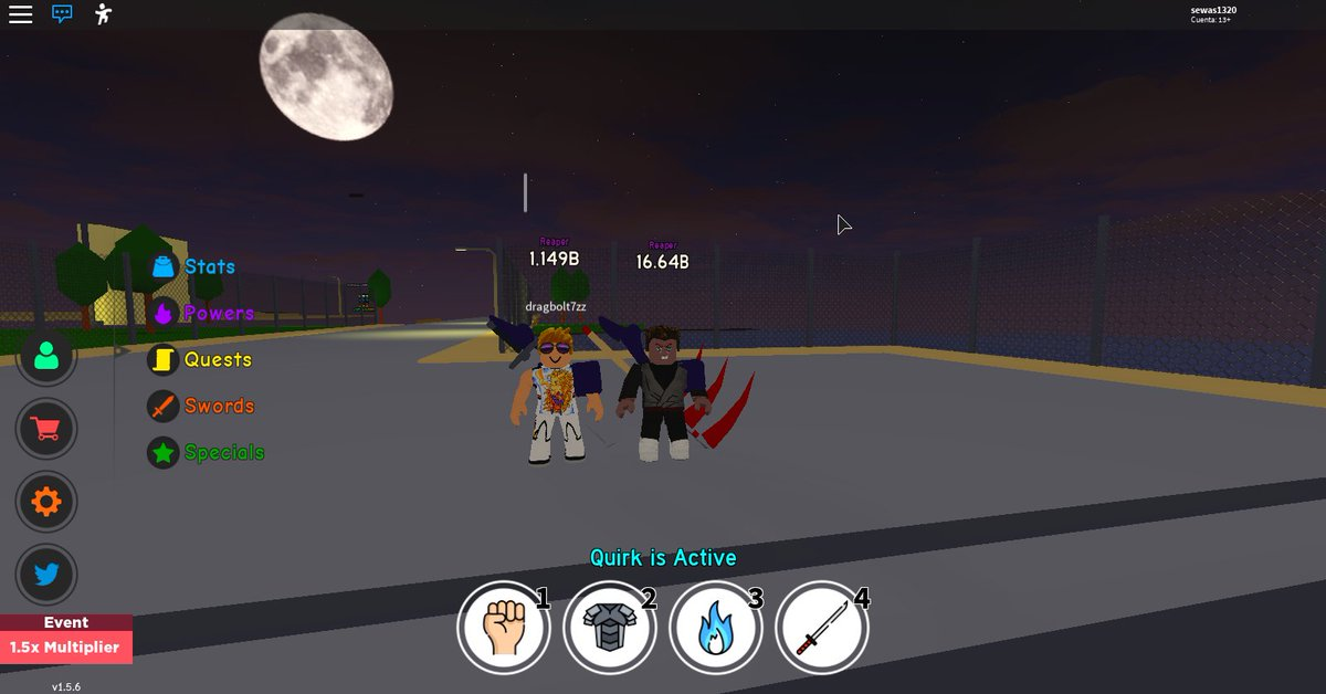 Codes De Anime Fighting Simulator Roblox Nyxun On Twitter New Update Is Out For Anime Fighting Simulator