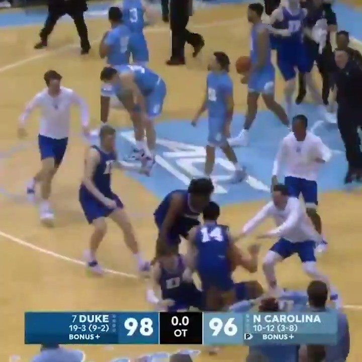 Replying to @SportsCenter: Duke pulled off a comeback for the ages with 2 wild plays 😲