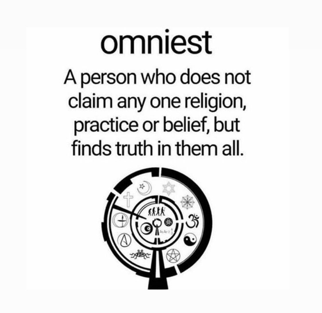"""Н""""œ On Twitter Omnism Is The Belief In All Religions Those Who Hold This Belief Are Called Omnists The oxford english dictionary (oed) quotes as the term's earliest usage by english poet philip j. omnism is the belief in all religions"""