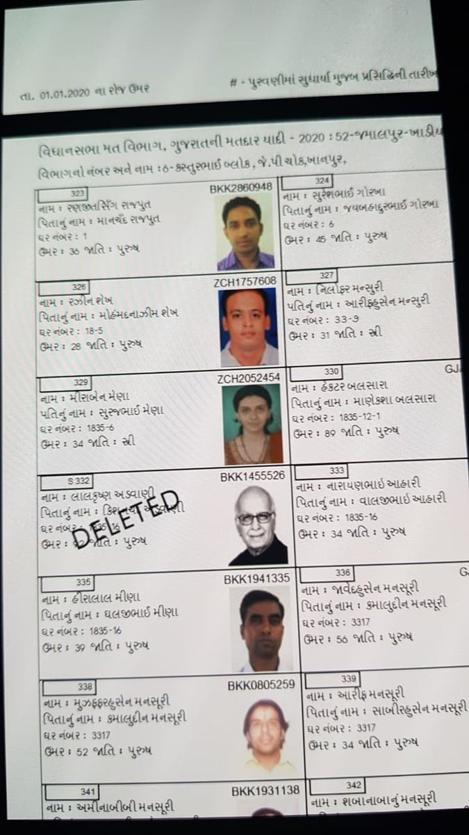 LK Advani gets his name deleted from voters list of Gujarat