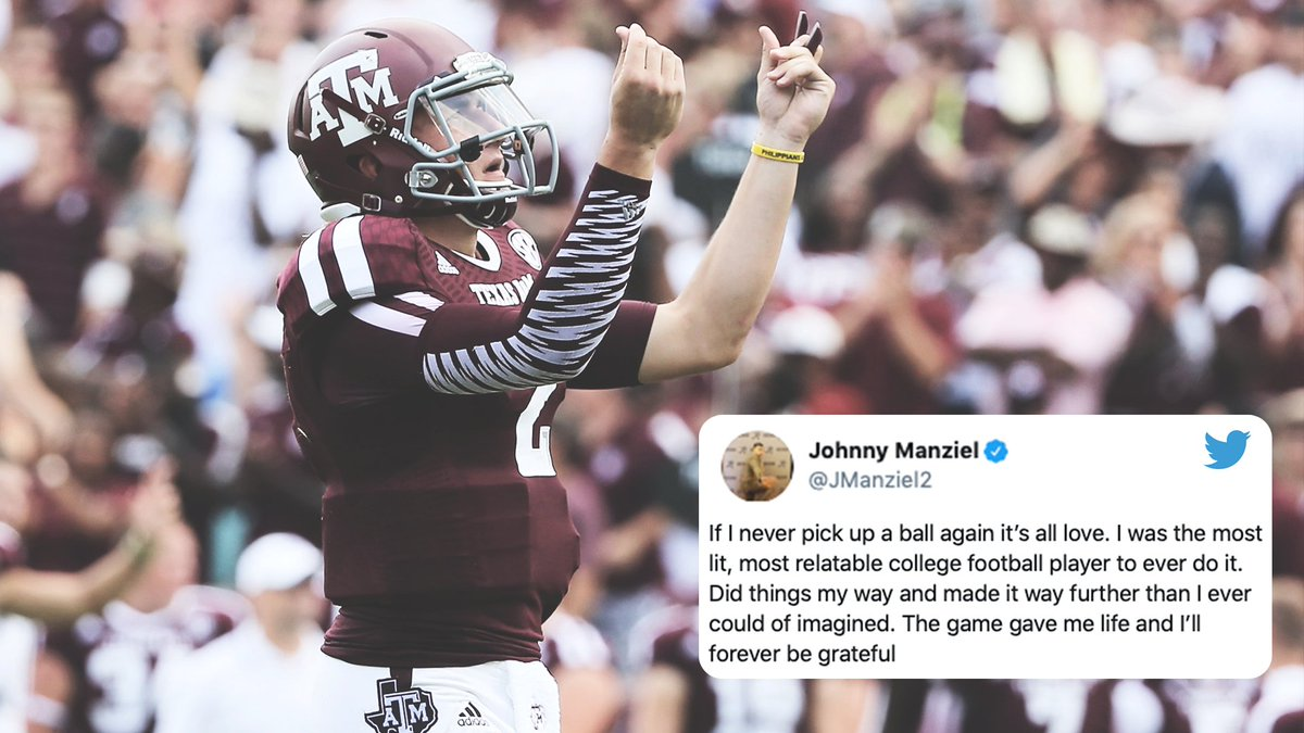 There will never be another Johnny Football.
