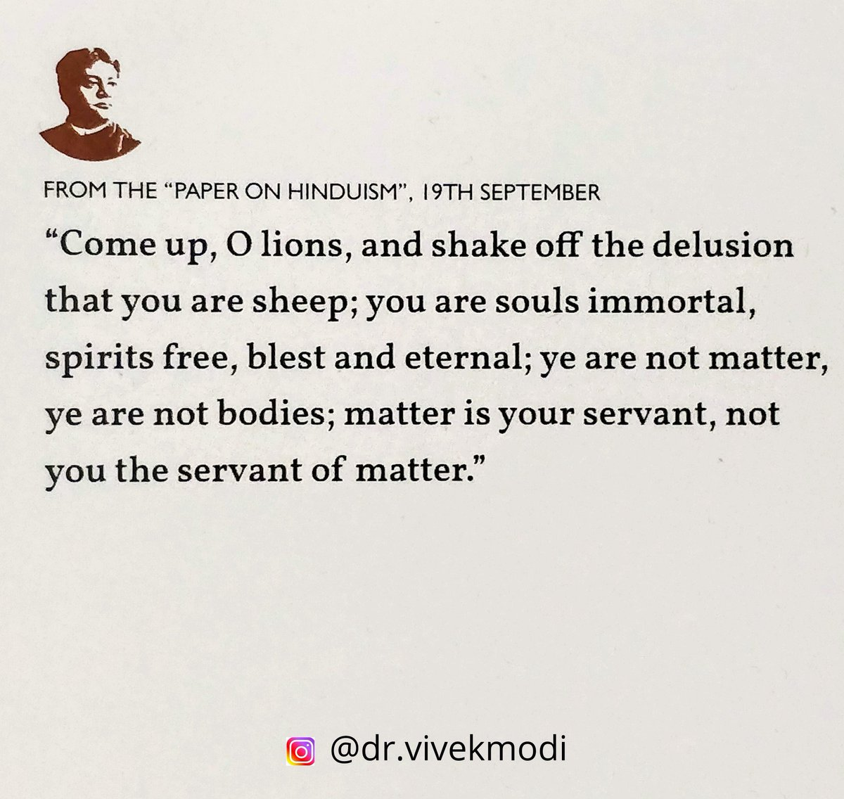 The timeless words of #swamivivekananda  #positivequotes  #swamijiquotes https://t.co/cXJrVG6Z4h