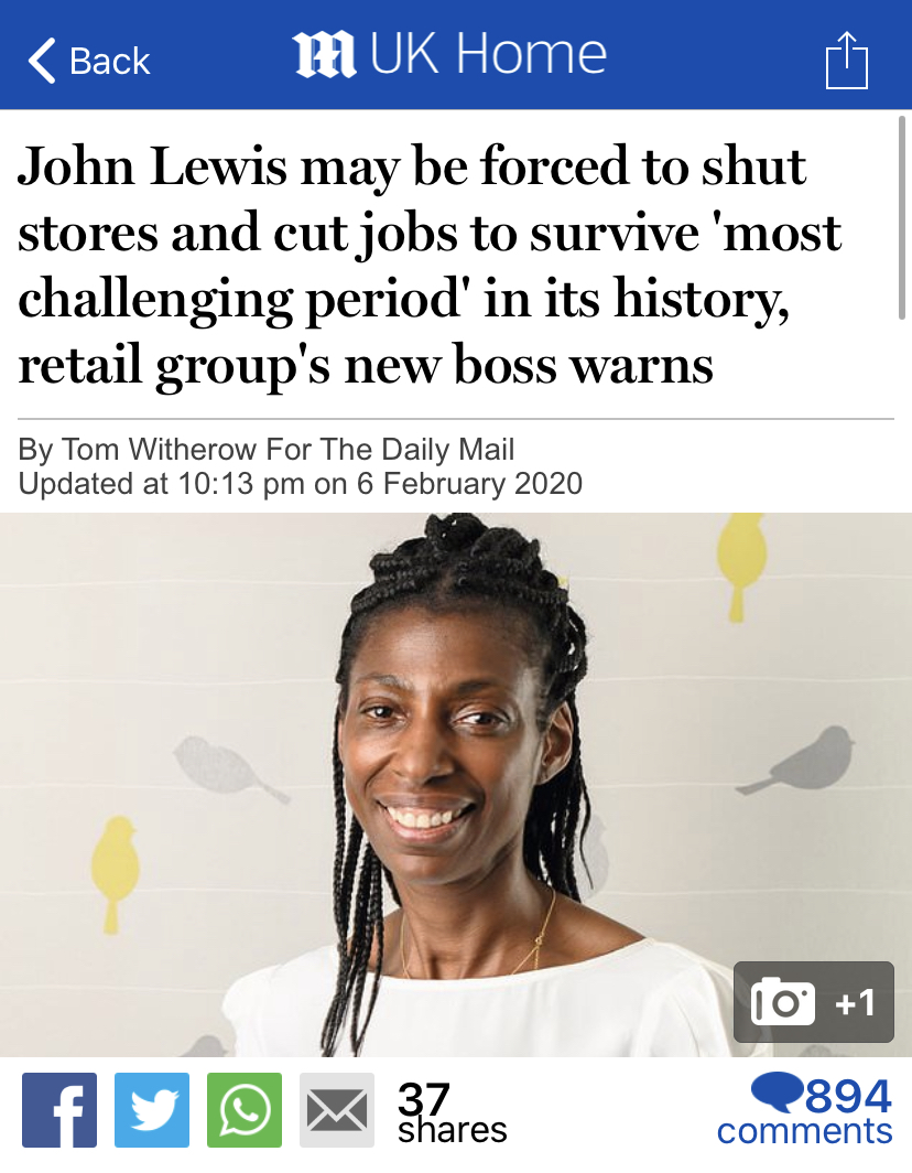 LOOK: At some point we're going to have to address the embedded racism that exists among a large percentage of the Daily Mail readership. Case in point; here they are triggered into fury over the suggestion that a black woman could get a job without political correctness.