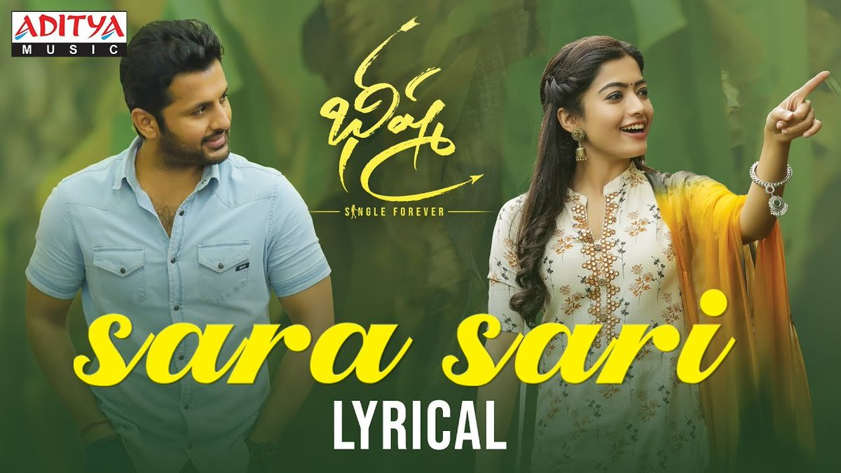 123telugu On Twitter Lyrical Video Sarasari Bheeshma Nithiin Rashmika Https T Co Fshoh4tb6c