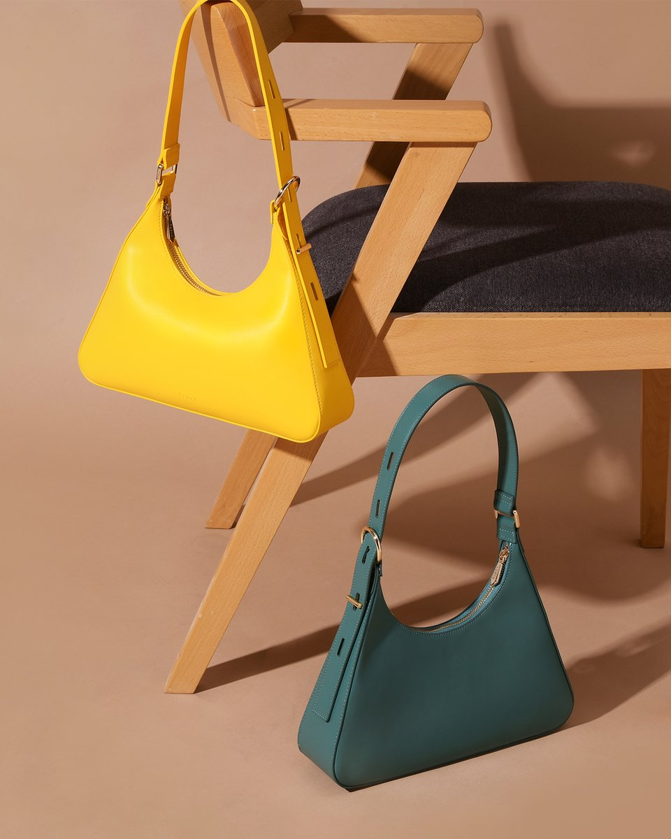The Compact Hobo | Yellow or Green #pedroshoes_official #pedross20