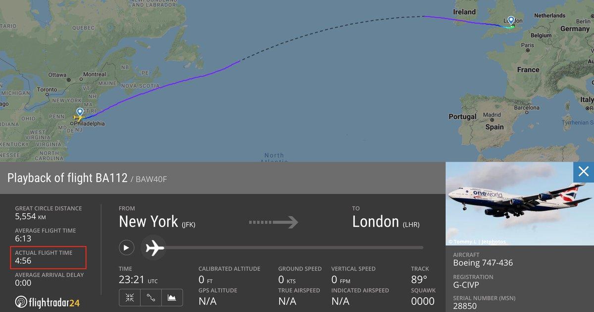 How did it happen? It's not magic, but it's close: Ciara. Flightradar24