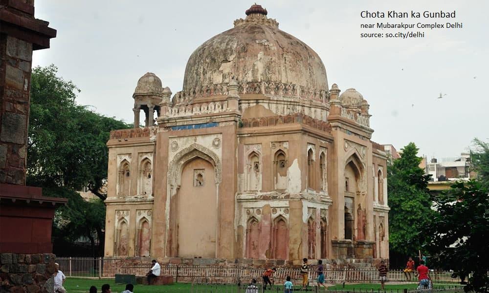 Chota Khan Ka Gunbad near Mubarakpur complex