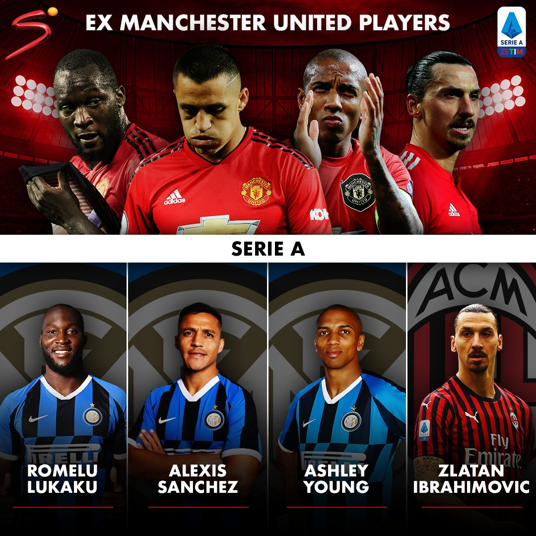 The connection between ex Manchester United players and #SerieA continued to grow during this past January transfer window. Ahsley Young > Inter Milan Zlatan Ibrahimovic > AC Milan