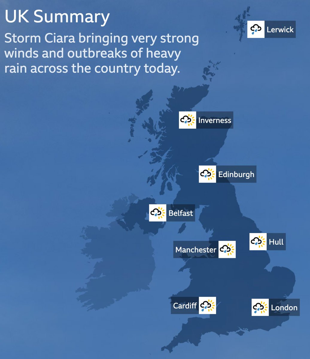☔ Essential #StormCiara updates from @BBCWeather bbc.in/31LMeXq