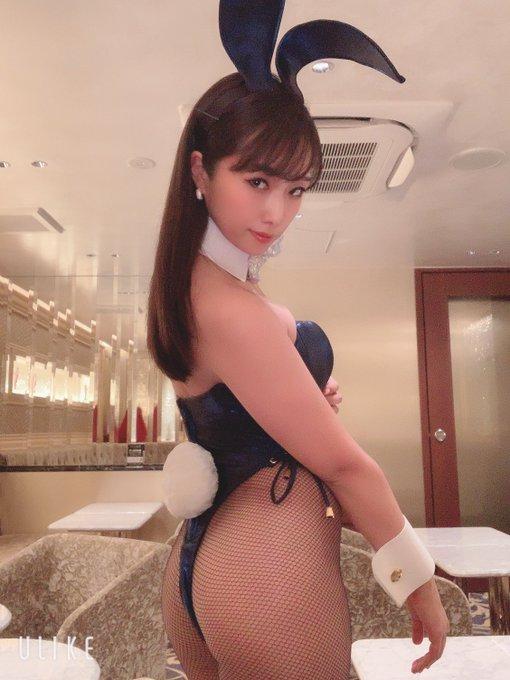 バニーガールの渋谷さんのTwitter自撮りエロ画像60