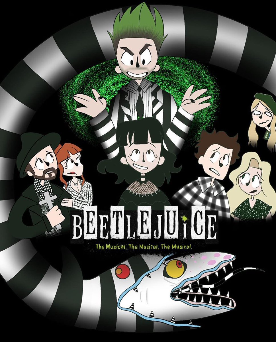Beetlejuice On Broadway On Twitter The Imagery Is Great Here And There S A Giant Snake Here Shout Out To Squippert For This Dead On Depiction Of Our Netherworldly Characters Https T Co Inlqyxincs