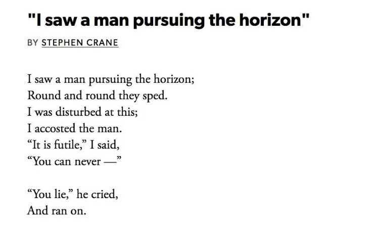 I bloody love this poem by Stephen Crane