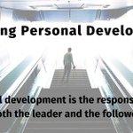 Image for the Tweet beginning: Ensuring Personal Development: Personal development