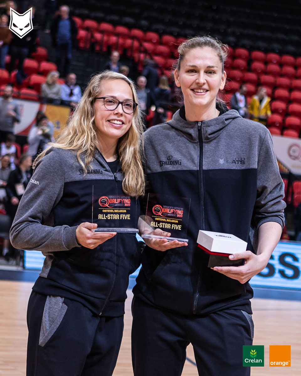 Congratulations to @JulieAllemand & @EmmaMeesseman  for making it to the All Star 5️⃣ in Ostend 🌟 & a special congrats to Emma with another MVP trophy 👑!   #crelansport #basketballbelgium #allforbasketball #sportersbelevenmeer #stadaanzee #FIBAOQT @sporza @FIBA #meessemood https://t.co/WiU0sDc7cf