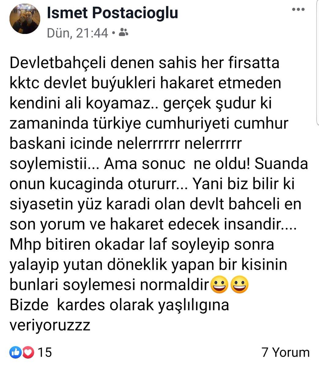 Uyuşturucu satıcısı ismet postacı #Gazimağusa'da oto alım satm işi yapınca biti kanlanmış ve Hasan Hulisioğlu ile Sayın @dbdevletbahceli ye dil uzatma cesareti bulmuştur. @KKTCUlkuOcak @KktcUlkuOcagi @MagosaOcak @fatiharici61  bu şahsı sizlre şikayet edyorz @TC_Lefkosa @mbasceri