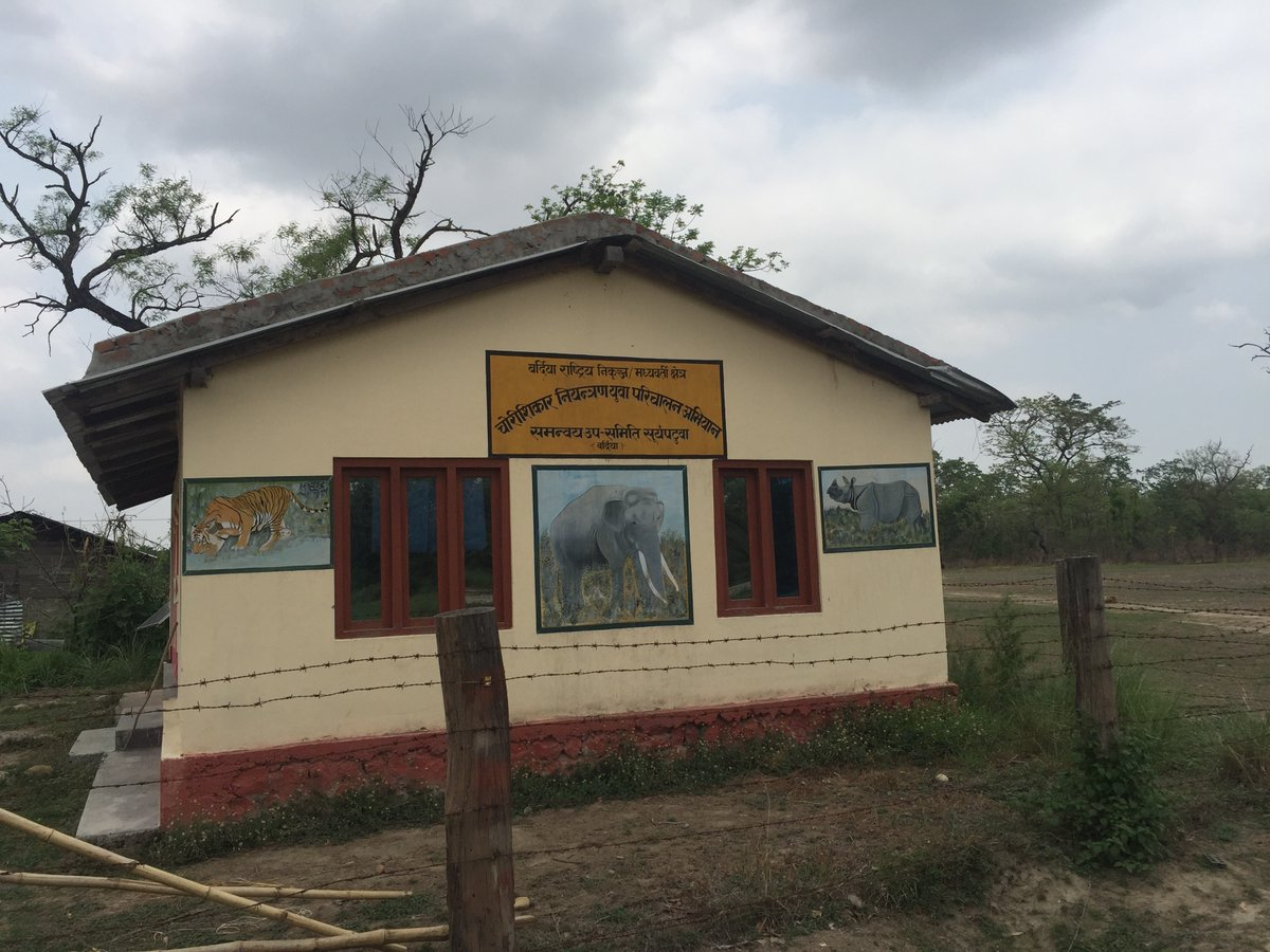 In the buffer zone of Bardia National Park in Nepal Community Based Anti-Poaching Units help mitigate Human-Elephant Conflict (HEC). Here is an office building for one of those teams, supporting the protection of elephants, tigers, and other wildlife in the region. https://t.co/OQ6C9TO64n