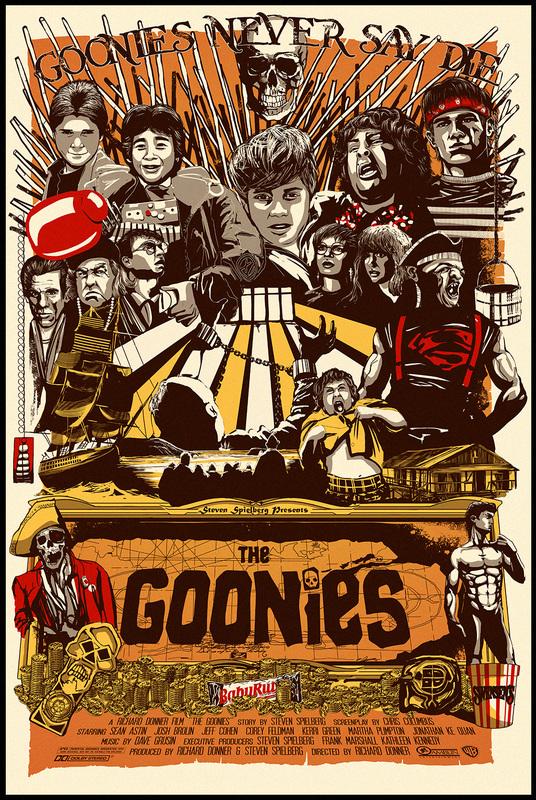 The Goonies (1985)  Andy Fairhurst @andy_fairhurst John Alvin https://johnalvinart.com/ Francesco Francavilla @f_francavilla Noriyoshi Ohrai (1935 - 2015)  #goonies