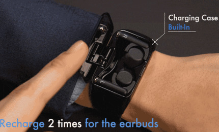 Название этого устройства Wristbuds. Он представляет собой умные часы и беспроводные наушники в одном корпусе. Согласно рекламной компании часы способны проработать до 4 дней в автономном режиме. Стоимость на предзаказе 99 долларов.  Читать тут: http://technocontrol.info/new/alias/wristbuds-predstavleny-na-kickstarter…pic.twitter.com/ICZS9UbkVk