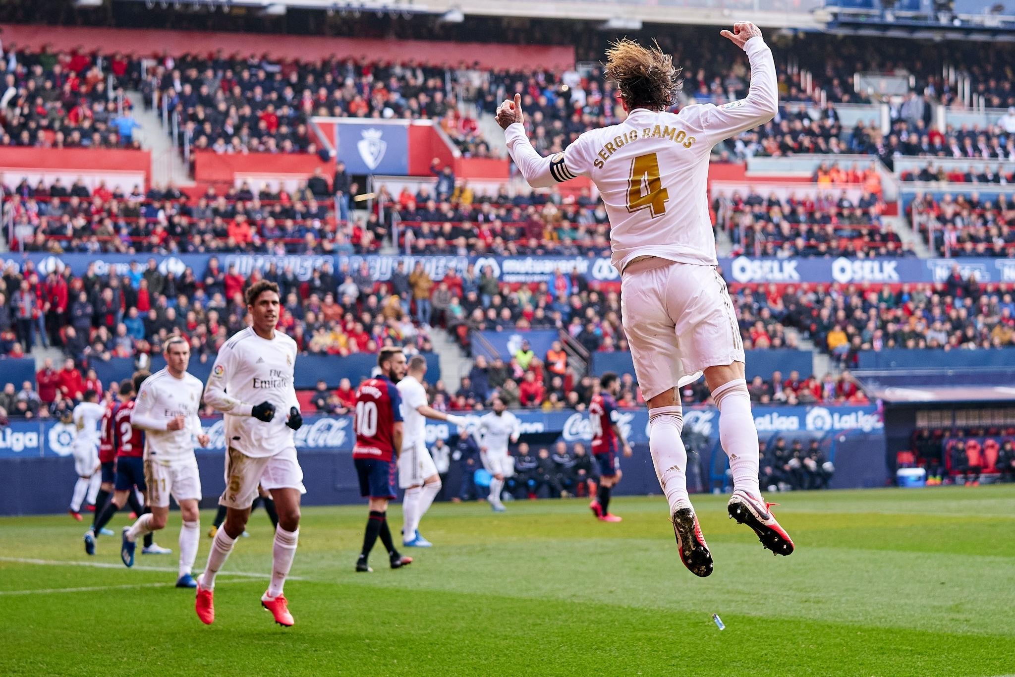 Рамос забил в ворота Осасуны свой 90-й гол за Реал. Серхио забивает в Ла Лиге дольше всех - изображение 1