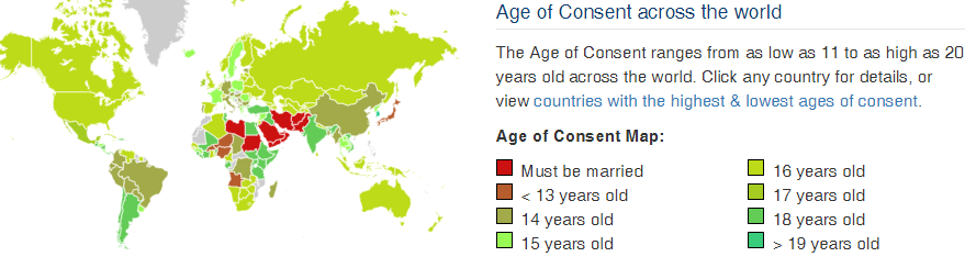 In age meme consent of japan Age of