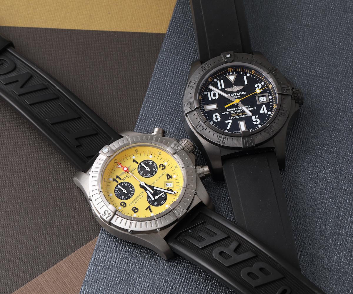 Perfect even for low-light conditions, yellow details improve the legibility of these robust adventure watches.  https://swisswatchexpo.click/avenger-yellow  #Breitling #BreitlingAvenger pic.twitter.com/fzUZfCmZaO