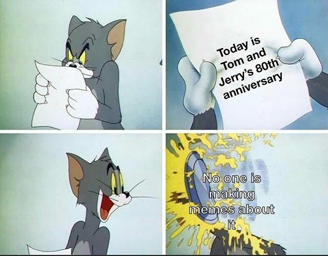 Happy 80th! . . . . . #tomandjerry #tom&Jerry #tomandjerrymemes #funny #memes #tommemes #jerrymemes #meme https://ift.tt/2SwJrgwpic.twitter.com/URgmDvpyU1