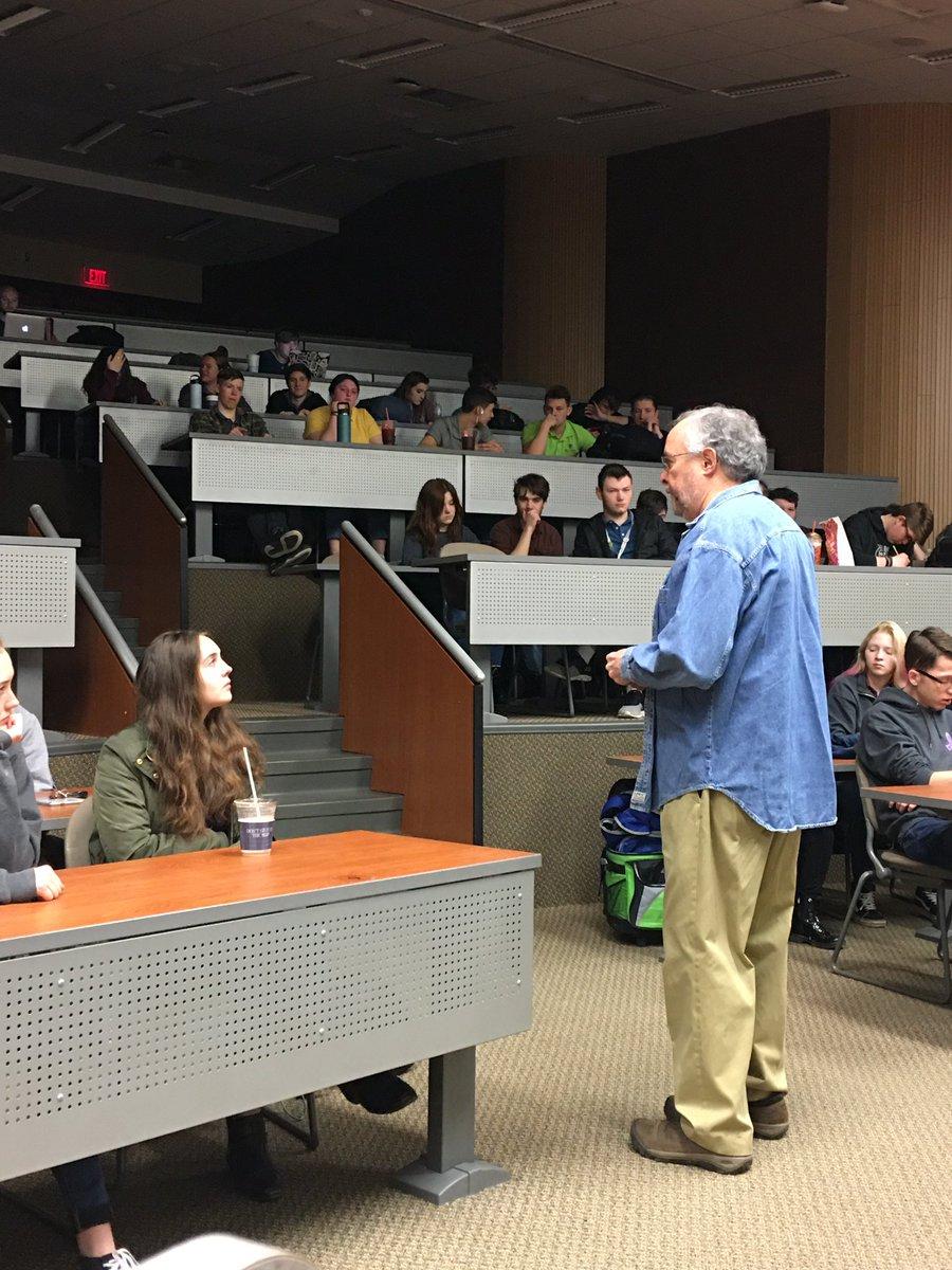 Dr. John Secaur, KSU physics professor, reveals some of the mysteries of the universe to #OurBMSA juniors.