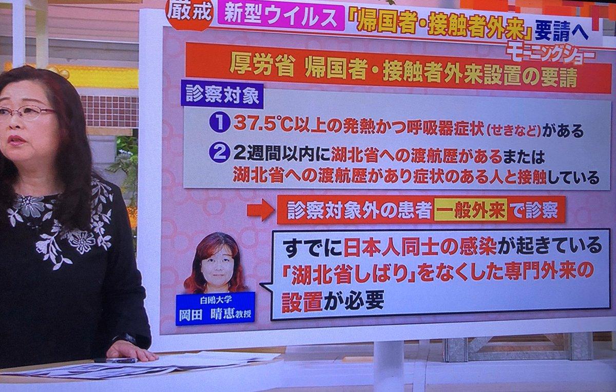 モーニングショー 岡田教授