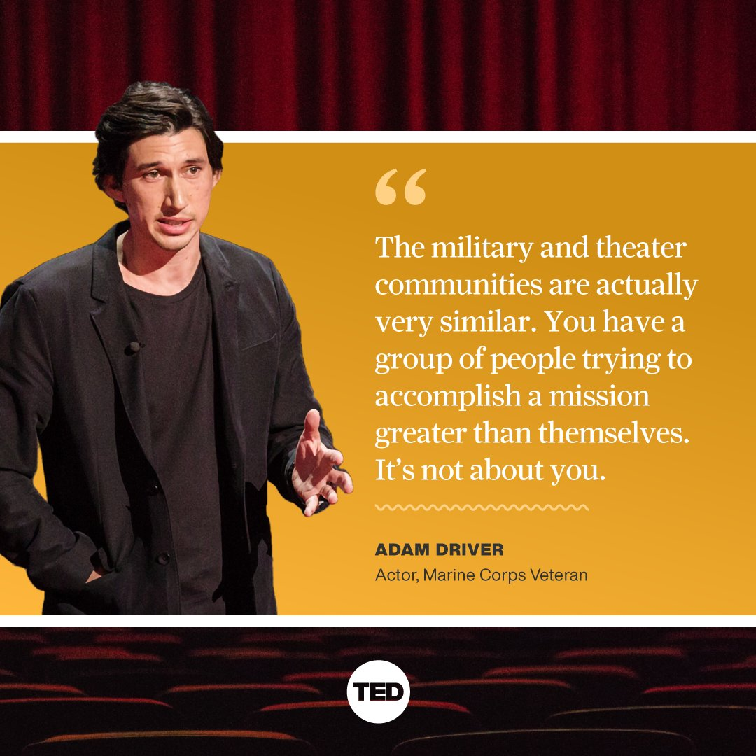 @TEDTalks's photo on adam driver