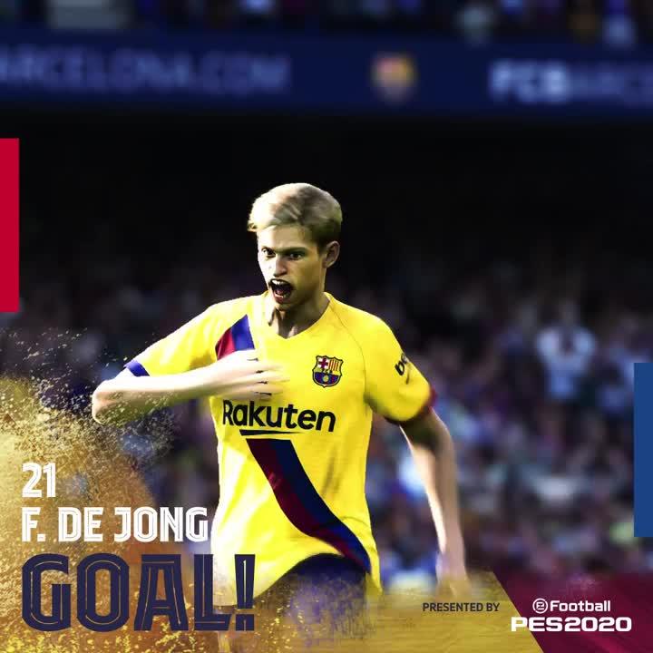 AND JUST LIKE THAT WE DRAW LEVEL! @DeJongFrenkie21 slots in with an assist from Leo #Messi! LET'S GOOOOOOOOOOOO!
