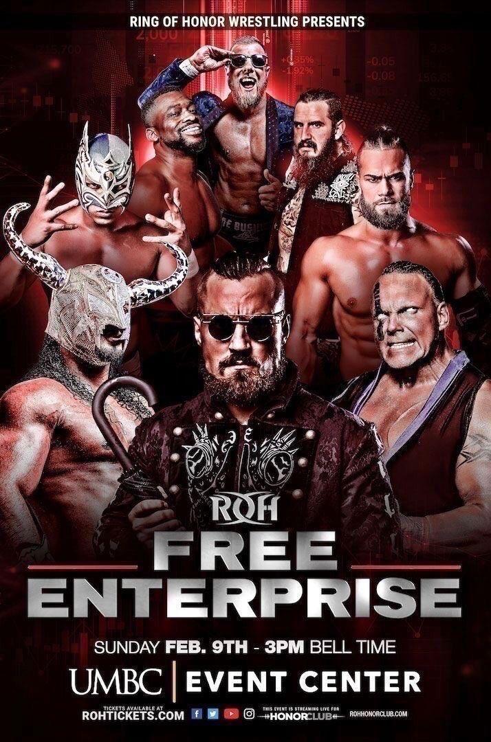 ROH Free Enterprise (2/9) Results: Marty Scurll & PCO Vs. Nick Aldis & RUSH
