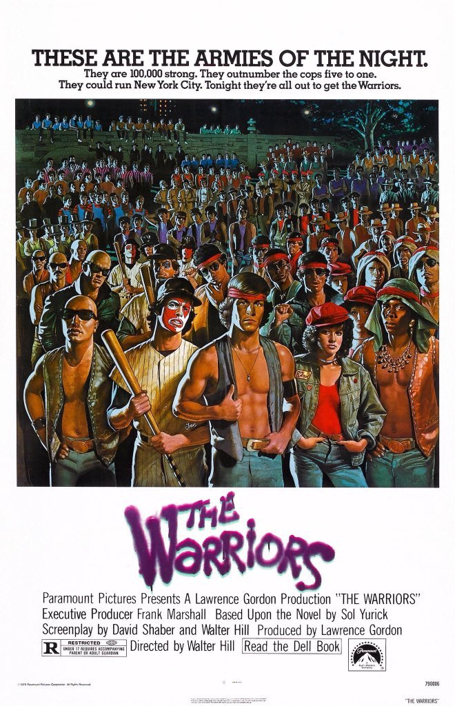 MOVIE HISTORY: 41 years ago today, February 9, 1979, the movie 'The Warriors' opened in theaters!  #MichaelBeck #DeborahVanValkenburgh #JamesRemar #BrianTyler #DavidHarris #TomMcKitterick #MarcelinoSanchez #TerryMichos #DorseyWright #RogerHill #DavidPatrickKelly #LynneThigpenpic.twitter.com/yBEPV8rOpM