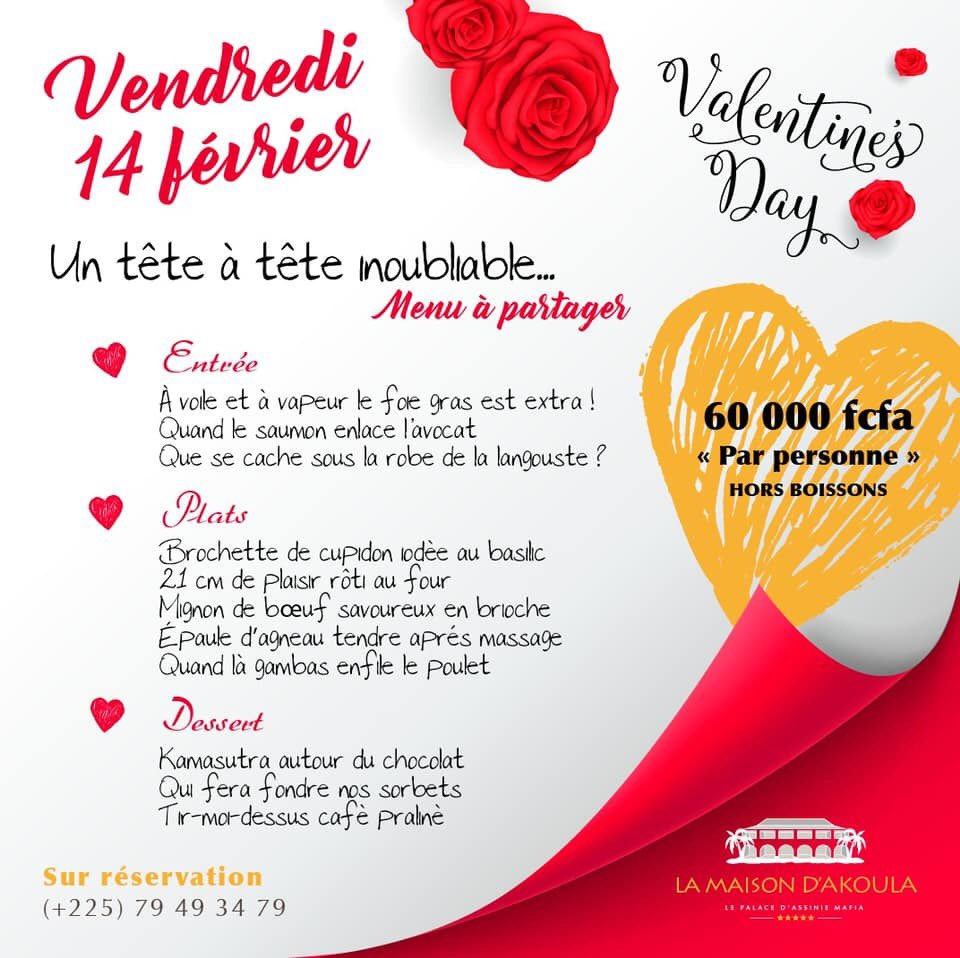 """La Maison Au Dessus Des Voiles babi inside on twitter: """"saint valentin à abidjan soirée"""