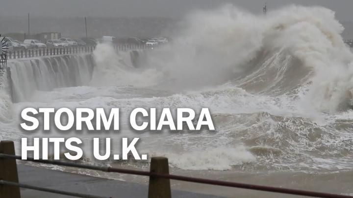 U.K. battered by Storm Ciara's hurricane-force