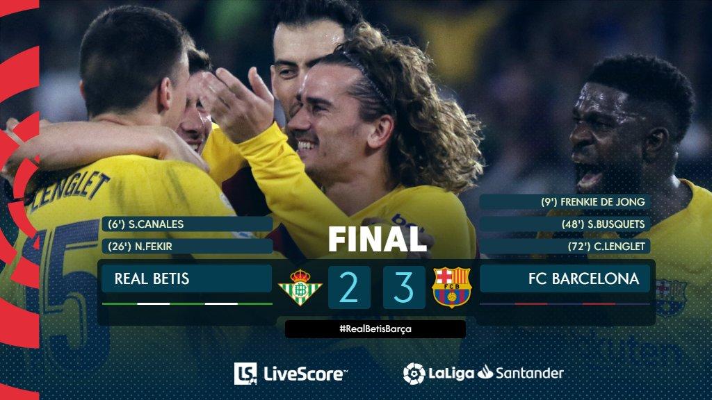 Betis Séville-FC Barcelone