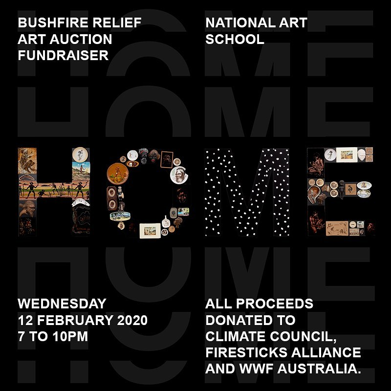 Artmonthsydney On Twitter Fundraiser Over 60 Australian Artists Have Contributed Works To The Home Bushfire Relief Art Auction Fundraiser With Proceeds Going To The Climate Council Firesticks Alliance Network And Wwf