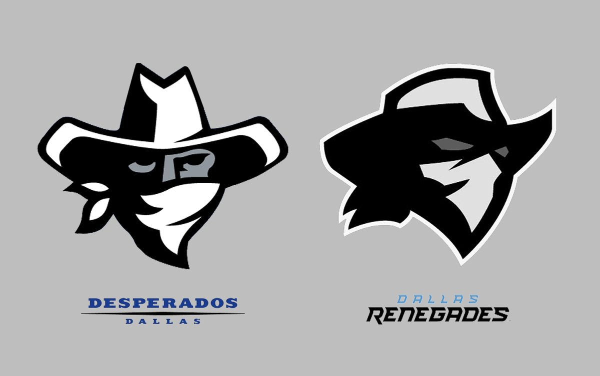 Ben Fraternale On Twitter When Dmagazine Made The Observation That The Xfl S Dallas Renegades Logo Looks Suspiciously Similar To The Dallas Desperados Of The Arena Football League Apparently They Were Right On