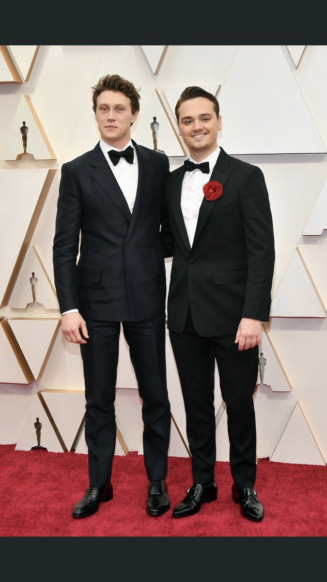 Our two incredible leads George MacKay and @Dean_C_Chapman arrive at the #Oscars red carpet, ahead of the Awards this evening. #1917Film is nominated for 10 awards, including Best Picture and Best Director.