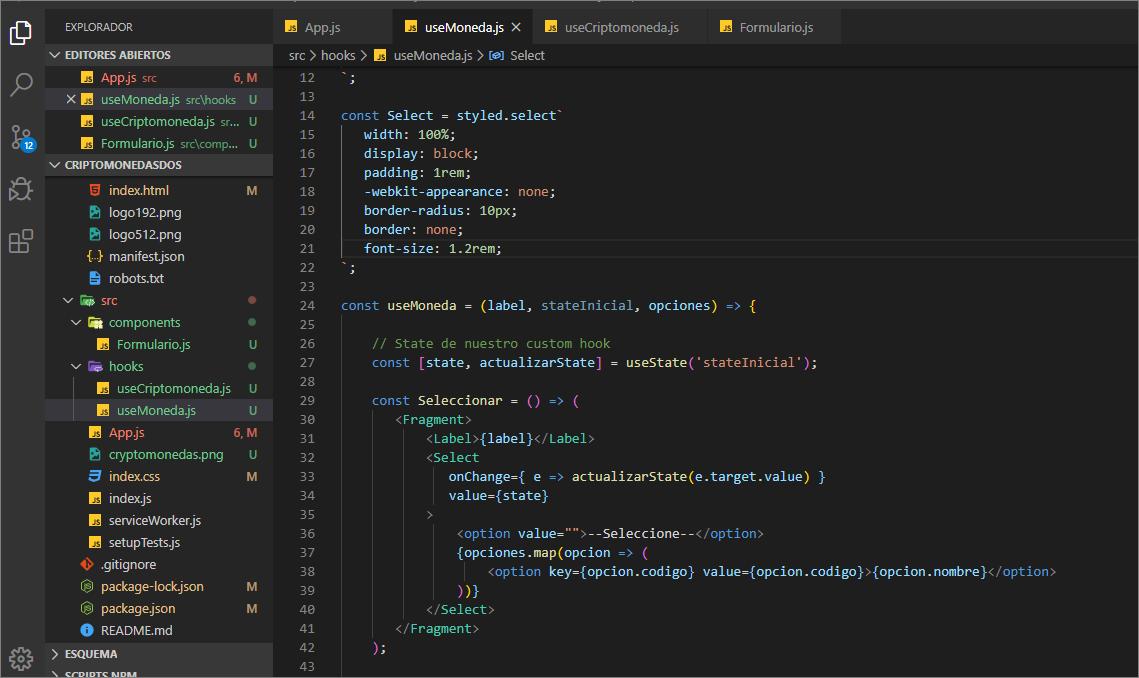 Finde de codear, aprendiendo a crear mis propios Hooks #customHooks #React #Hooks #frontend #Styled #curso #Devs #codingdays pic.twitter.com/sxaITvaLrj