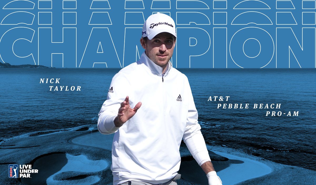 Wire-to-wire winner! 🏆🇨🇦 @NTaylorGolf59 is the champion @ATTProAm. Its his second TOUR win and first since 2014. #LiveUnderPar
