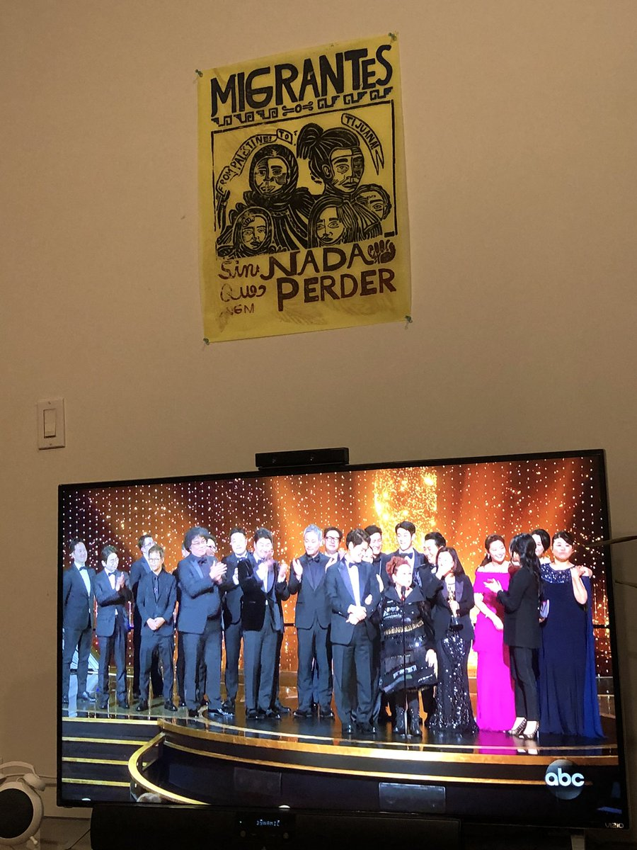 First Foreign Film to EVER win the Oscar for Best Picture. My heart is so full tonight. #BongHive #Oscars