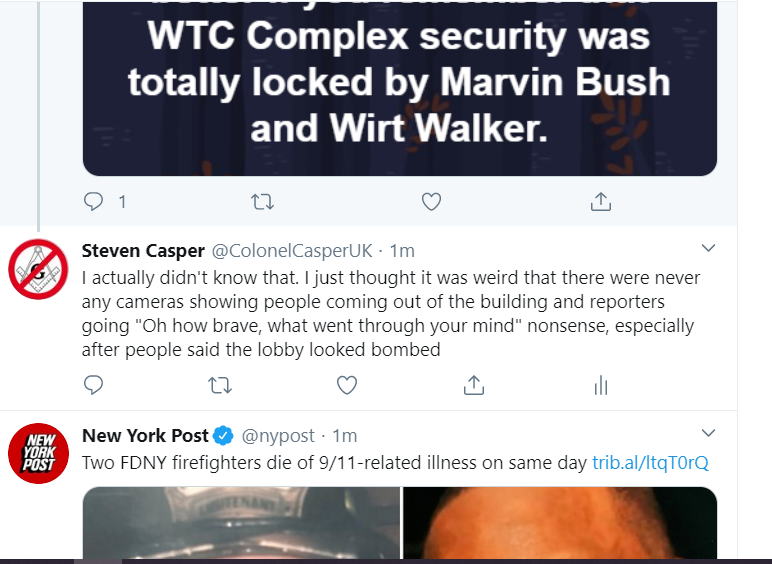 @noblebutts I just thought this was funny, here we are talking about 9/11 and MSM is still pushing the propaganda