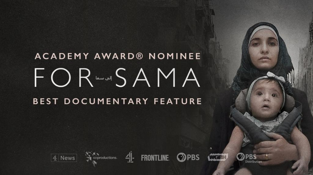 The #Oscars start in just a few minutes! We are sending luck and best wishes to our @forsamafilm team, nominated tonight for Best Documentary Feature. to.pbs.org/2OHlEt8