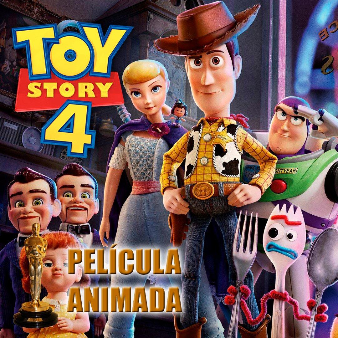 Toy Story 4 se lleva el Oscar a Mejor Película Animada!  #Oscars2020 #Oscar #BestAnimatedFeatureFilm #MejorPelículaAnimada #ToyStory4 #JoshCooley #MarkNielsen #JonasRiverapic.twitter.com/fisCjykerM