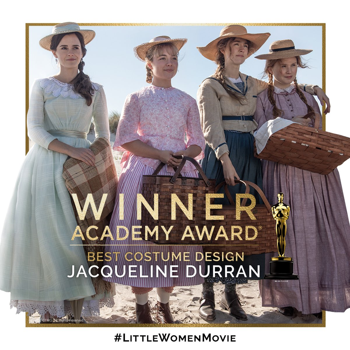 Congratulations to Jacqueline Durran on her #Oscars win for Best Costume Design for #LittleWomenMovie!