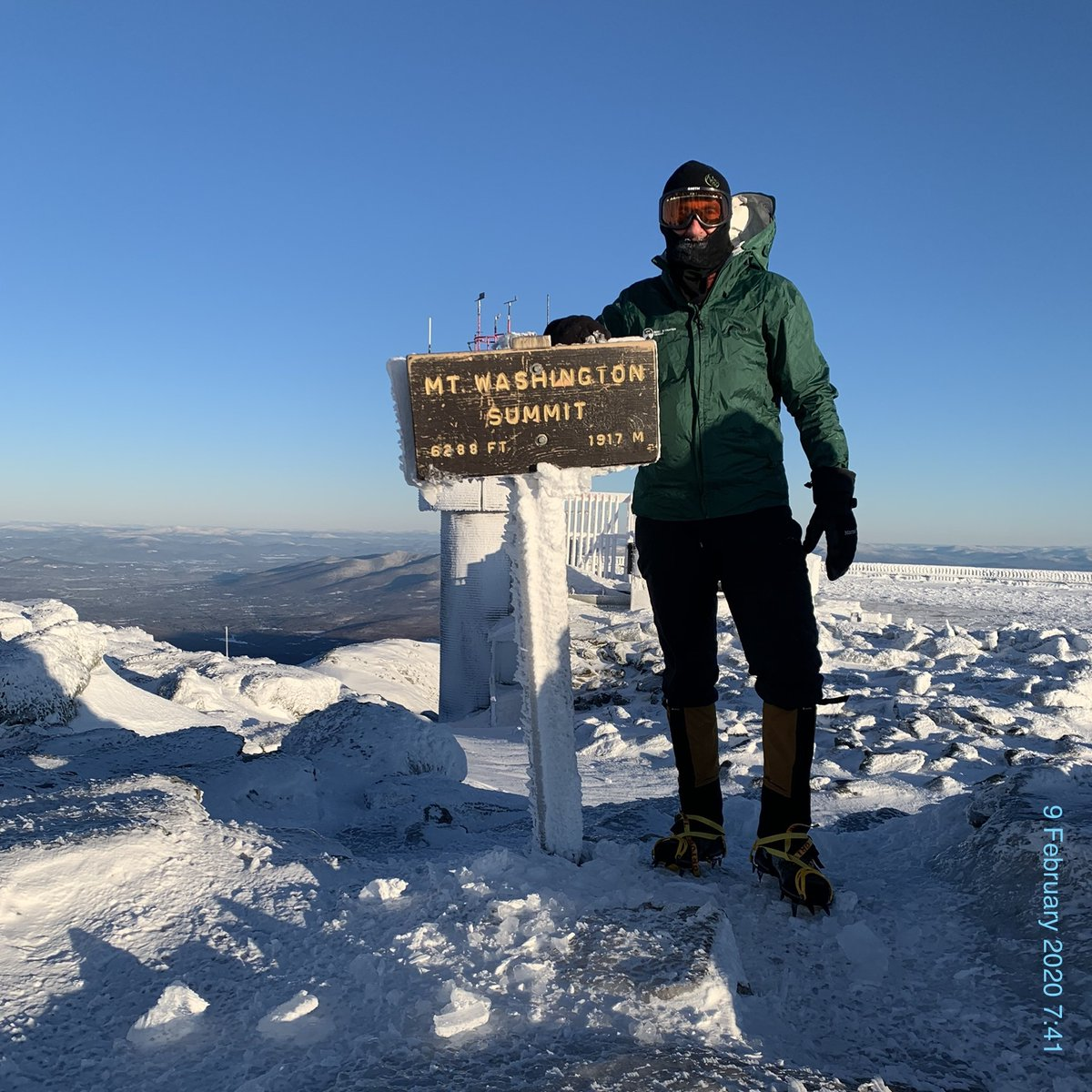 Frightening ascent turned magnificent to Mount Washington summit in unpredictable winter conditions