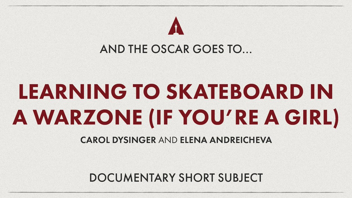 It's official! #Oscars https://t.co/UeoYK52trf