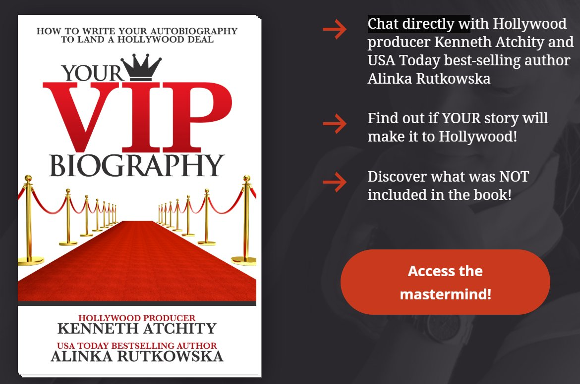 """This month is your chance to mastermind with Hollywood producer Kenneth Atchity  @kennja!  Step 1: get yourself a copy of """"Your VIP Biography"""" https://amazon.com/dp/B0848NNYT2 NOW  Step 2: sign up for the mastermind with Ken &  @AlinkaRutkowska   @ https://authorremake.com/your_vip_biography_bonus/…  #writingadvice"""